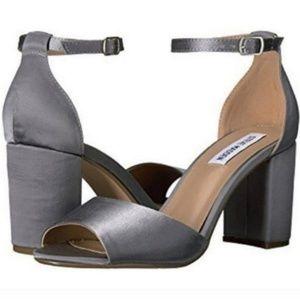 Steve Madden Mirna Grah Satin Block Heel Sandals